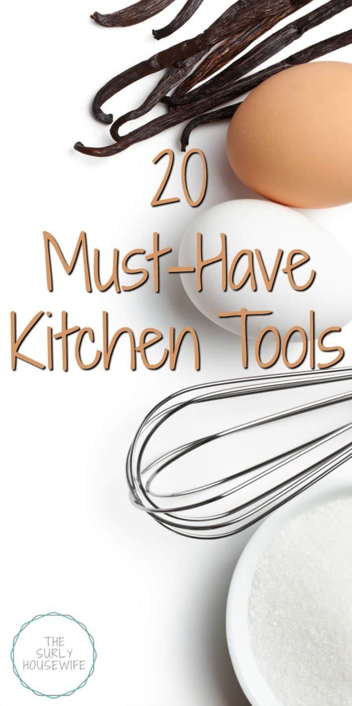 Not sure what to buy for your new kitchen? Need a list of kitchen essentials? Set your kitchen up for success with these 20 must-have kitchen tools!