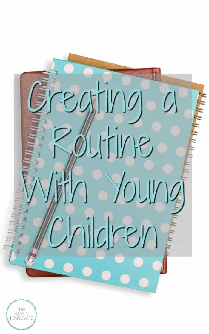 Do you feel like you are in survival mode with your kids? In this post learn how to organize a routine with young children to bring joy back into your home.