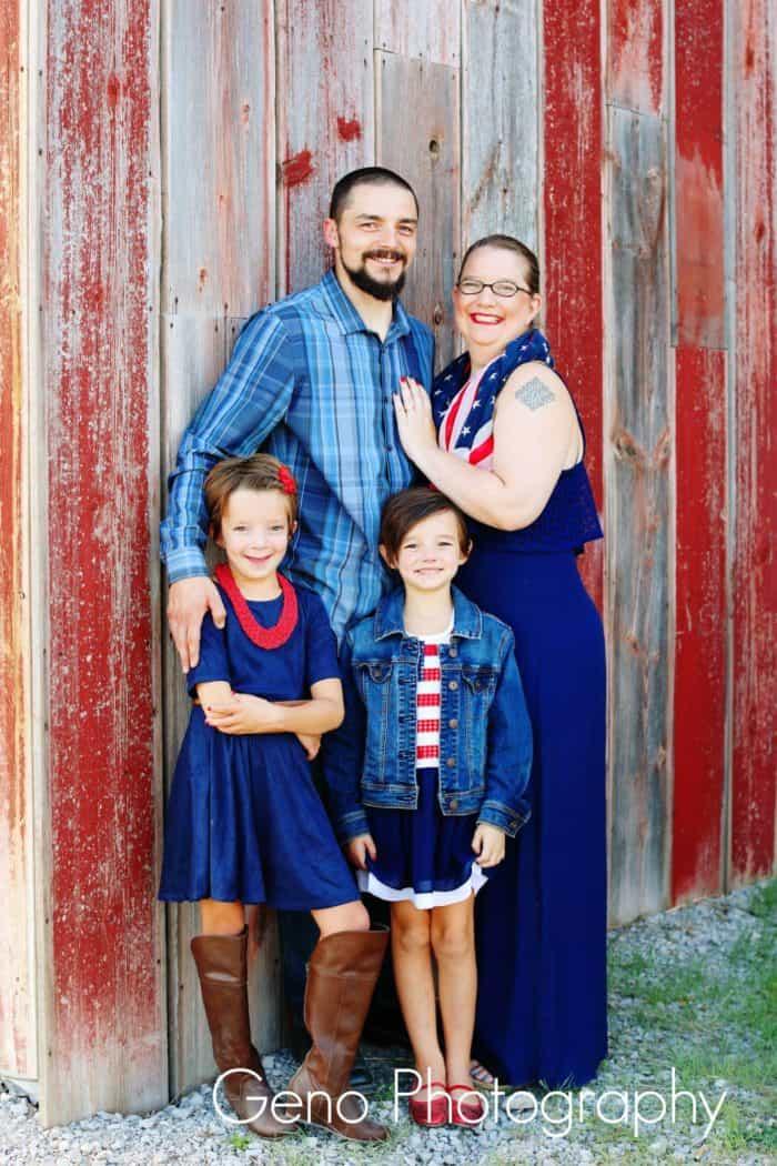 Patriotic family portraits