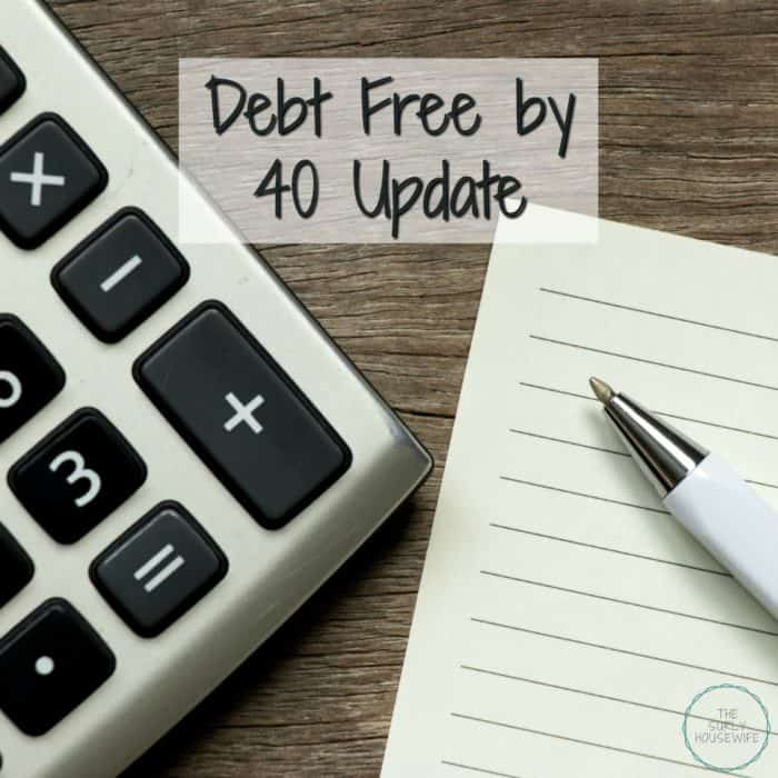 Debt free by 40 update