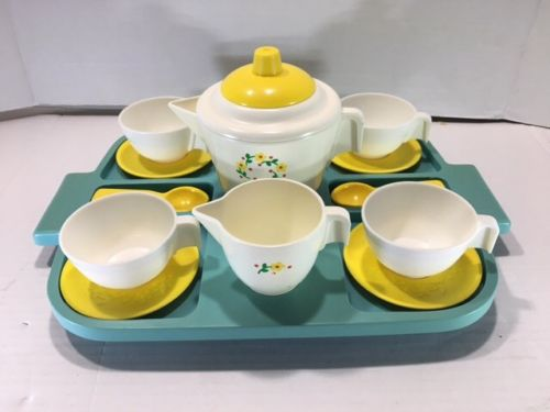 1982 Fisher Price Tea Set and Tray