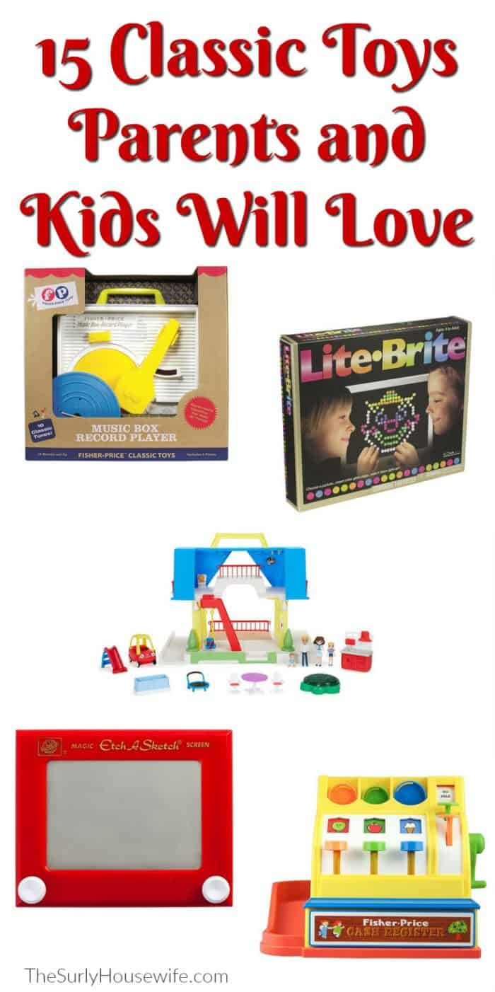 Are you looking for the perfect inexpensive Christmas gift for a kid in your life? This Christmas gift guide is full of toys inspired by my childhood favorites. Whether it is a toddler or a preschooler, boy or girl, check out this fun, play-based gift guide. Plus they can be purchased from Amazon making your Christmas super easy.