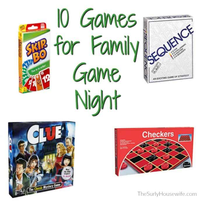 If you are looking to spend more time together as a family, try a family game night! This post includes 10 of our favorite games for family game night. Check it out!