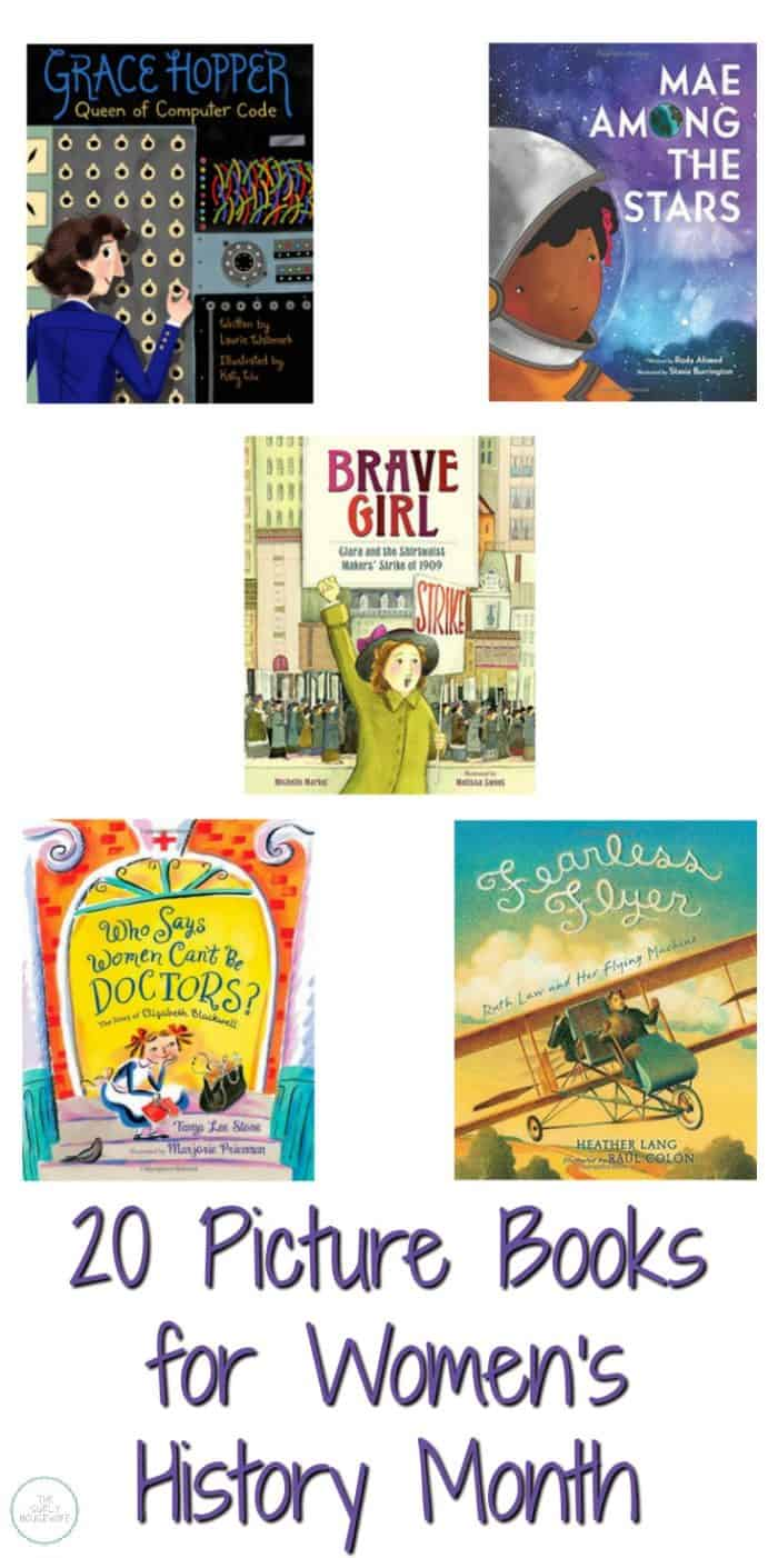 "Do you love reading books where you say, ""I never knew that?!"" Then check out this post for 20 picture books about strong women you can read during Women's History Month!"