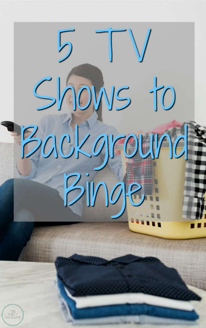 Do you use tv as background noise? Do you ever get tired of trying to find a tv show to turn on in the background? Enter the background binge watch! Check out this post for 5 tv shows to background binge watch.