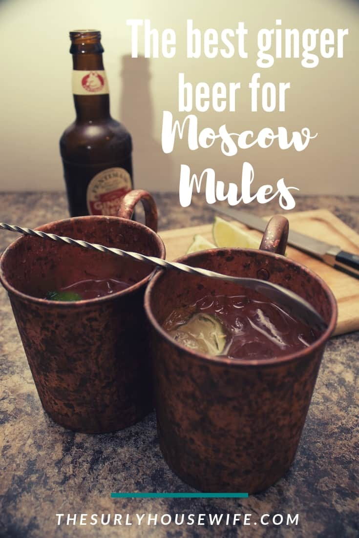 You need two things for a classic Moscow mule recipe: copper mugs and ginger beer. Click on this post to learn about the best ginger beer for Moscow mules.