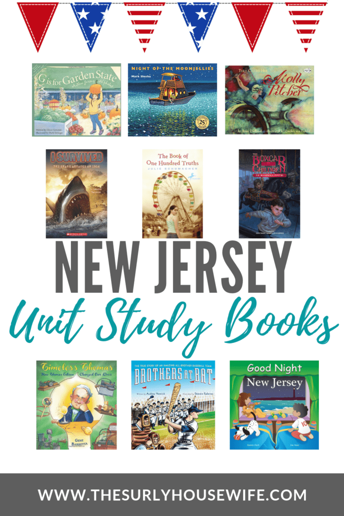 If you are doing a 50 states study, check out this post for a book list about the garden state. These New Jersey unit study books will be a perfect fit!