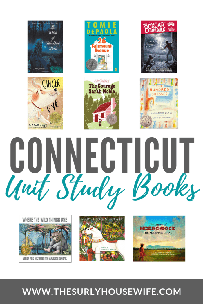 Check out this post for a book list about the constitution state! These Connecticut unit study books will be a hit with your kids!