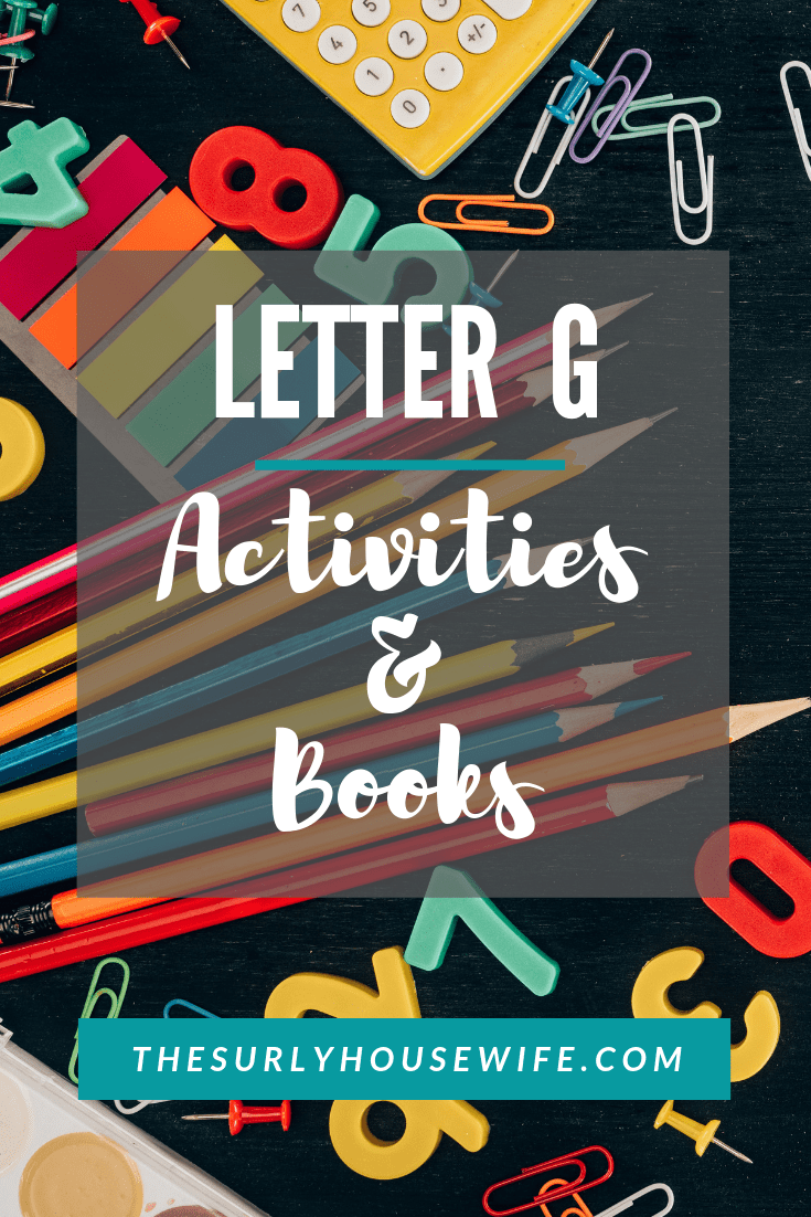 Are you a homeschool mom teaching your preschooler the alphabet? Click here for letter G activities, books, crafts, and a sensory activity!