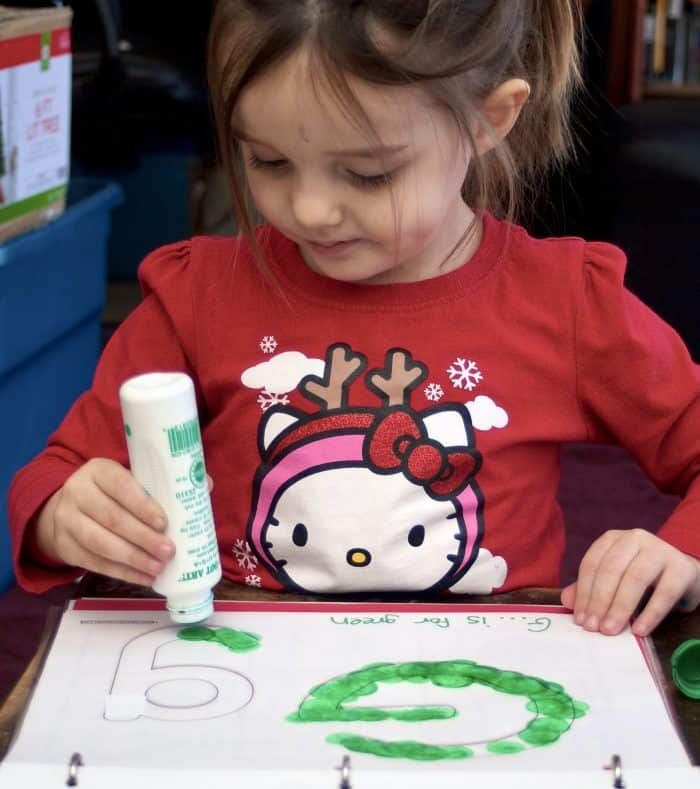 G is for Green ABC Book for preschoolers