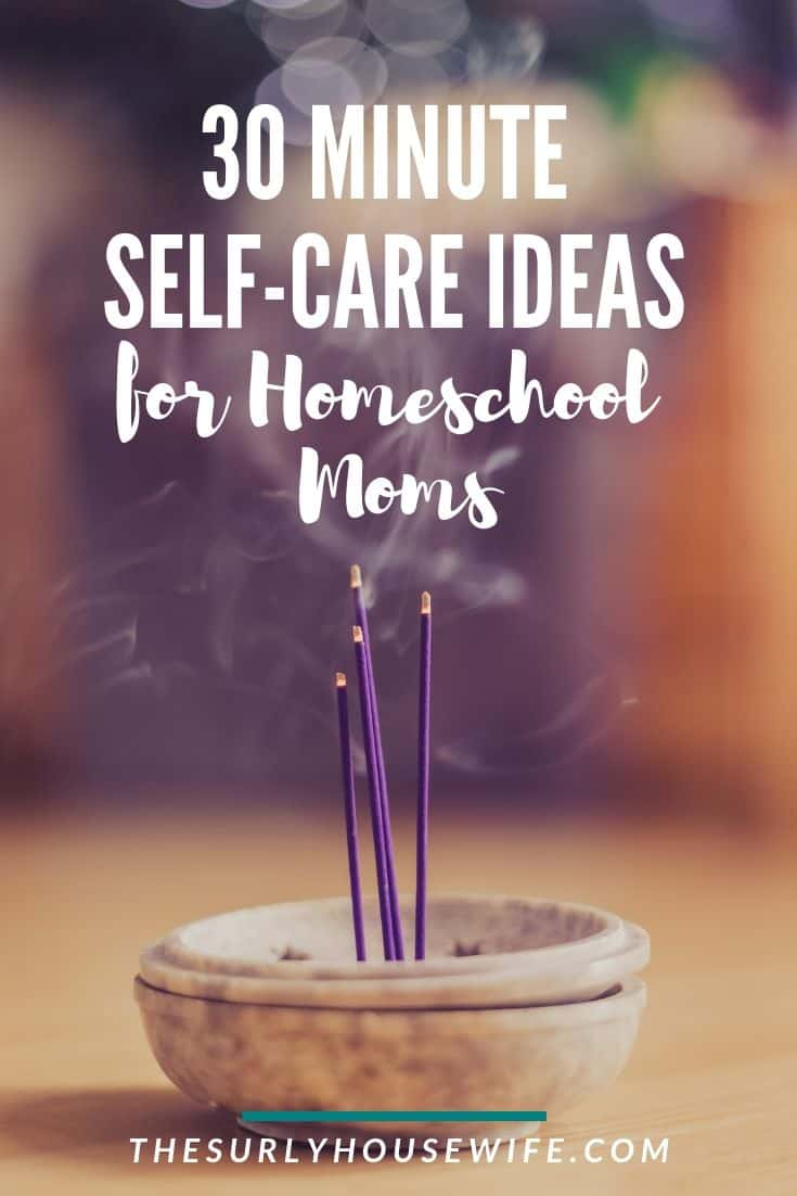 Are you a homeschool mom looking for self-care ideas? Don't miss this post for self-care activities that only take an hour!