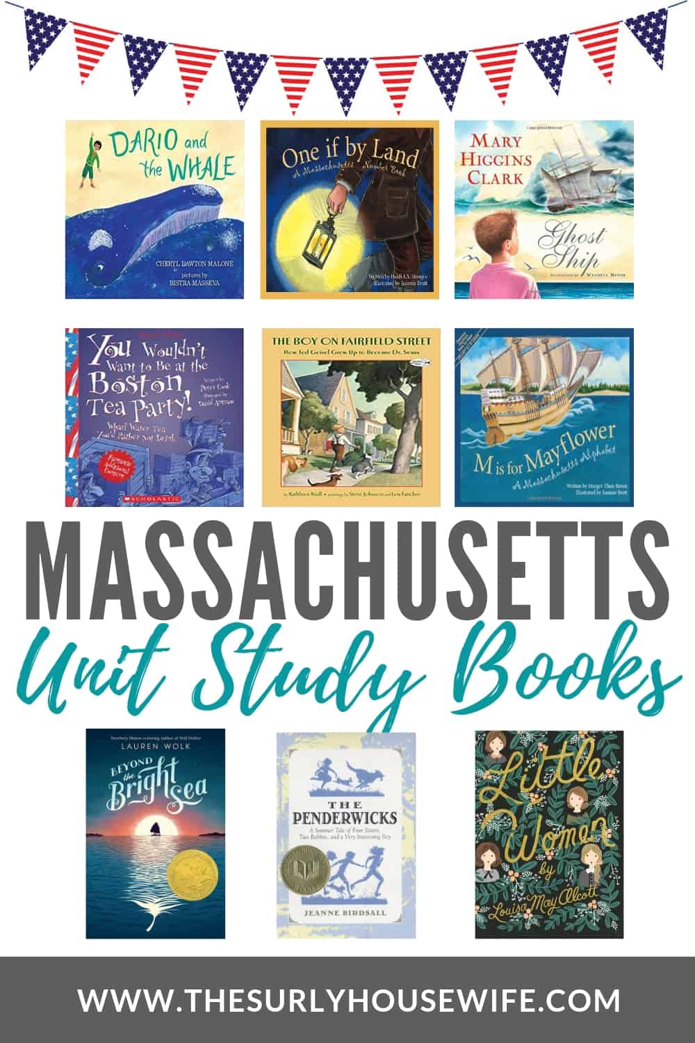 If you are studying Massachusetts with your kids, check out this post for 20 Massachusetts unit study books you will love!