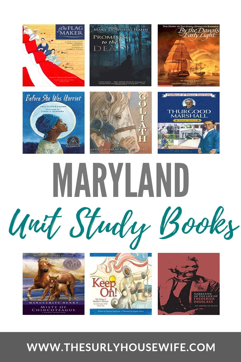 Looking for children's books about Maryland? This post includes 20 books for studying Maryland history and geography. It has picture and chapter books set in Maryland as well as young adult literature and adult fiction and non-fiction