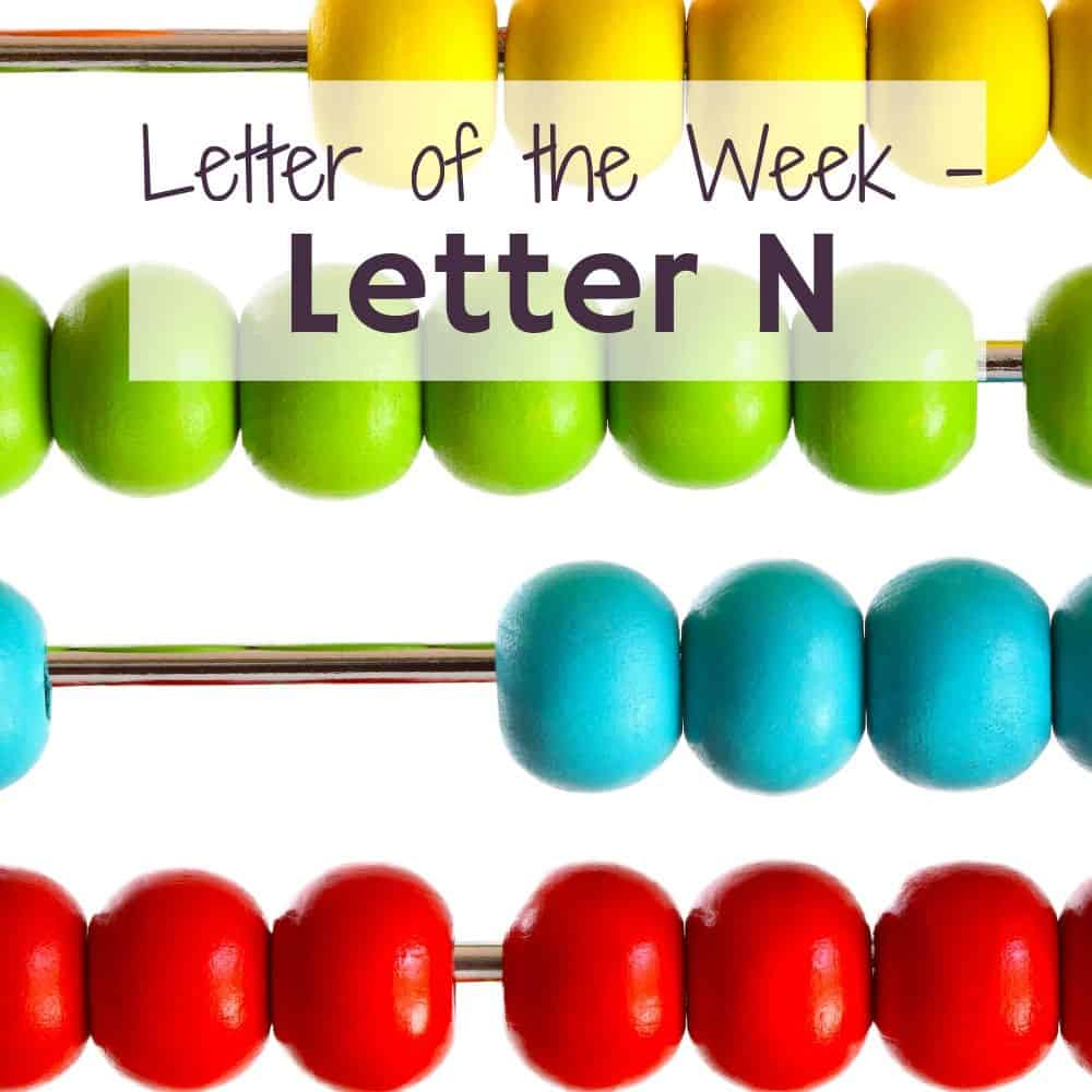Letter N activities for home preschool title image