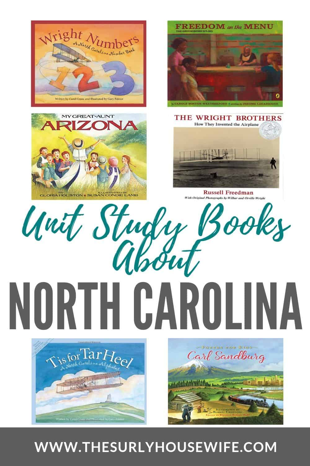 Searching for books about North Carolina, then check out this post! It contains children's books, chapter books, and picture books about the Tar Heel State! From the Biltmore to the Outer Banks, and from the Wright Brothers to Greensboro plan your unit study about North Carolina today!
