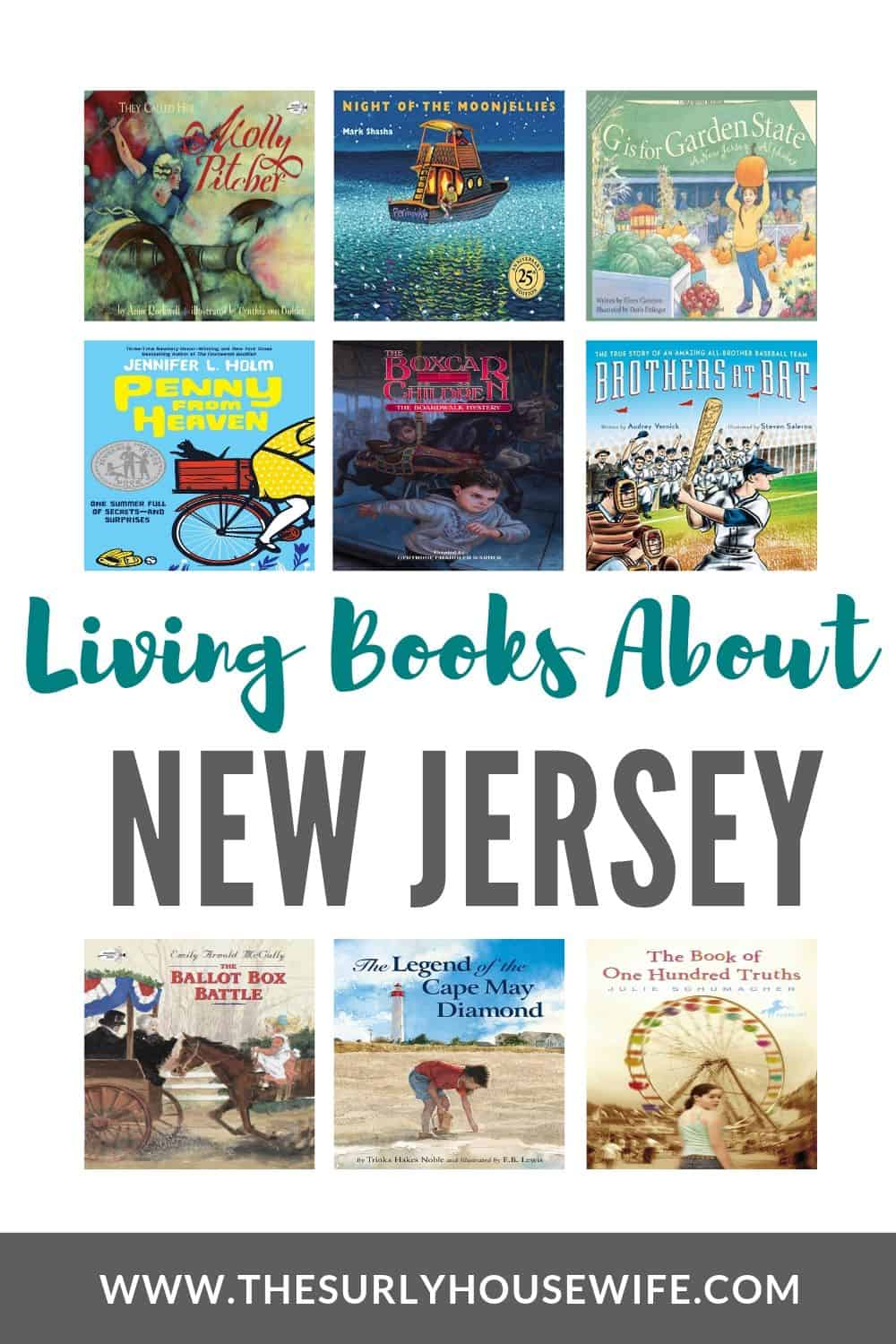 Doing a 50 states study? 20 New Jersey books for kids starting a state unit study. Learn all about the garden state with fiction and non-fictions books about Thomas Edison, baseball, the Revolutionary war, and more! From pictures books to young adult fiction, this book list is perfect for studying US geography and using a literature-based curriculum. Books to read aloud and books kids can read for themselves. A book list for kids of all ages, a perfect collection for your homeschool.