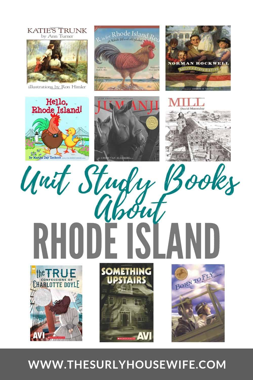 Looking for children's books about Rhode Island? Doing a 50 states study? This post includes 20 books for studying Rhode Island, the Ocean State! It features picture books, chapter books, young adult literature, and books about Rhode Island history.