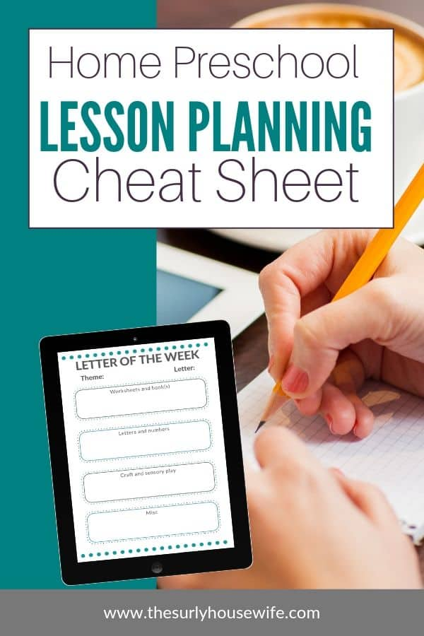 Are you a homeschool mom searching for lesson planning help? Have you tried all the planners, calendars, and printables but you just can't find something that helps keep your lesson plans neat and organized? Then don't miss this post for a FREE homeschool preschool lesson planning cheat sheet! I call it an unschoolers approach to lesson planning!
