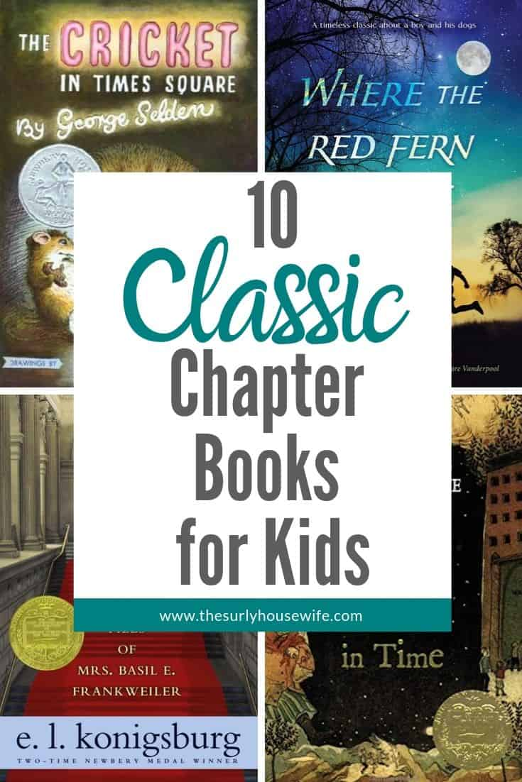 Looking to start reading classic novels with your kids? Then don't miss this post for 10 amazing classic chapter books for kids, published before 1970! Audiobooks for elementary kids | audiobooks for kids | 10 classic chapter books to read with kids | Book list for kids | classic novels for kids | 4-6th grade reading lists | literature-based curriculum
