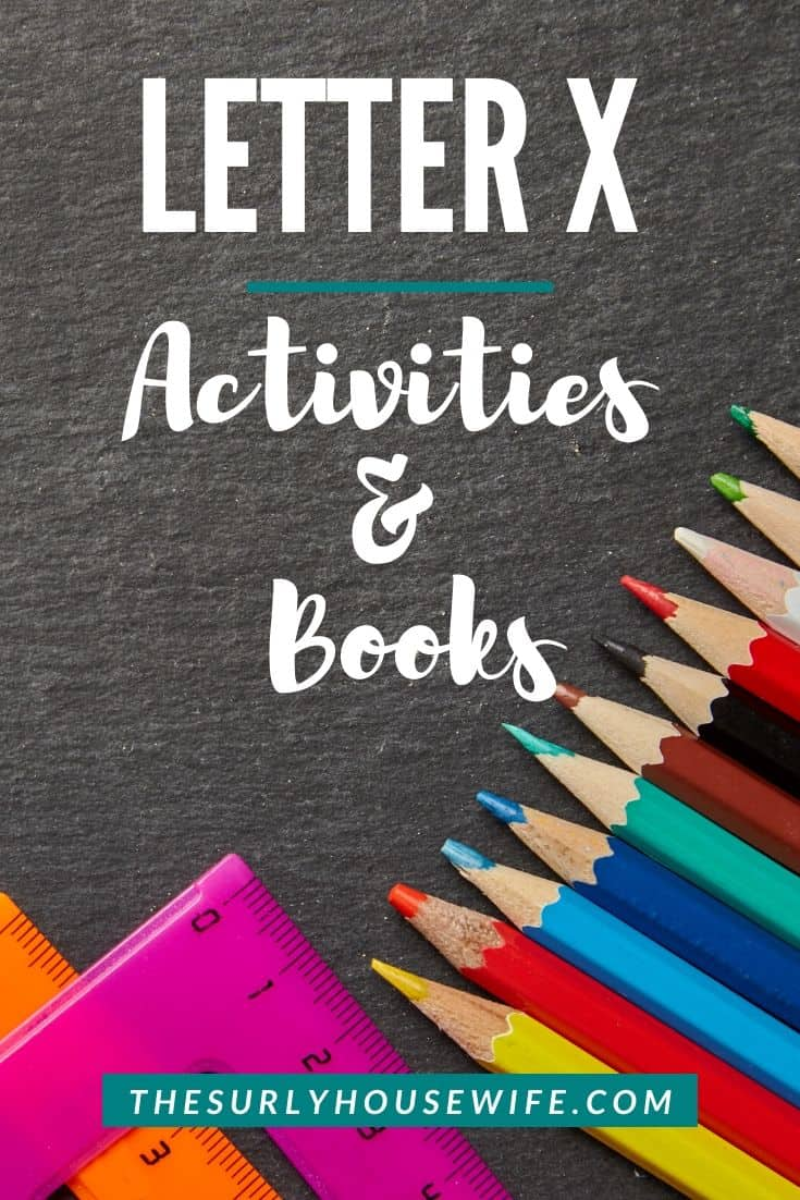 Are you a homeschool mom starting to teach your preschooler the alphabet? Click here for letter X activities and ideas including some fun sensory activities! | Letter X activities for preschoolers and toddlers