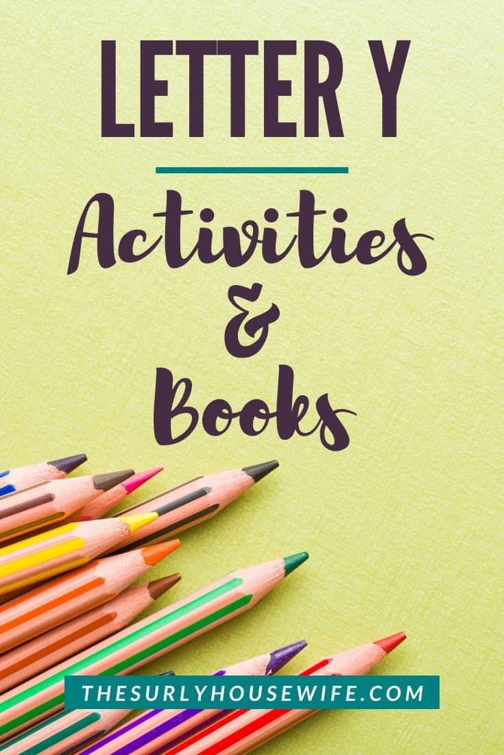 Letter Y activities for preschoolers