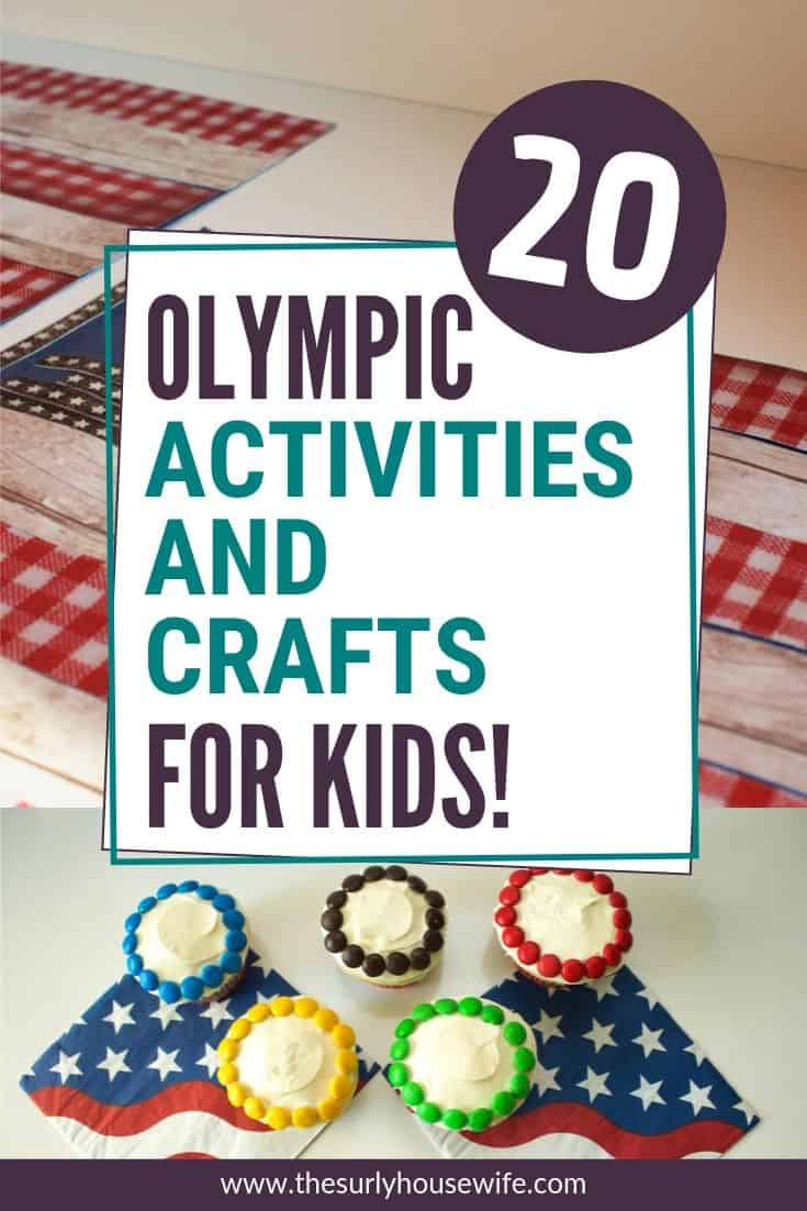 Throwing an Olympic themed party? Searching for Olympic theme activities to do with your kids? The Olympic games are fast approaching, and these Olympic activities and crafts are just what you need to celebrate with your kids. It includes Olympic Rings Cupcakes, Olympic flag cake, paper torches, a countdown, and much more! The countdown to Tokyo 2020 is on!