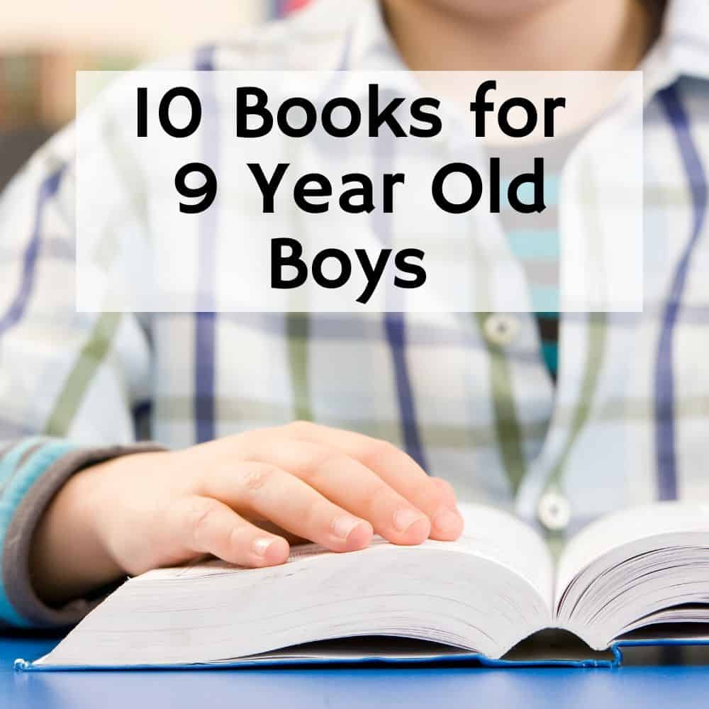 close-up of a boy's hand while reading a book. Title image of blog post 10 books for 9 year old boys
