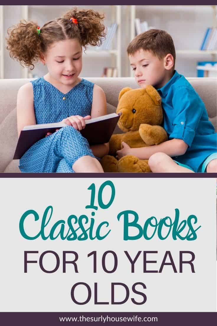 Searching for books for your 3rd or 4th grader? Then don't miss this list which contains classic books perfect for 10 year olds! They are perfect for reading aloud, independent reading, or a summer reading list! Introduce your child to some of your favorite book from when you were a kid! 10 of the best chapter books for 10 year olds.