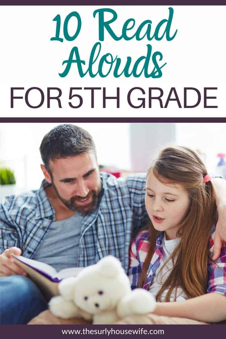 Looking for read aloud suggestions for your fourth grader? Don't miss this post for 10 fourth grade read alouds you can fit into your homeschool day! These chapter book recommendations are perfect to read as a family as well as independently. These 10 Read aloud chapter books include realistic fiction, fantasy, and classic books! Don't miss these suggestions for chapter books.