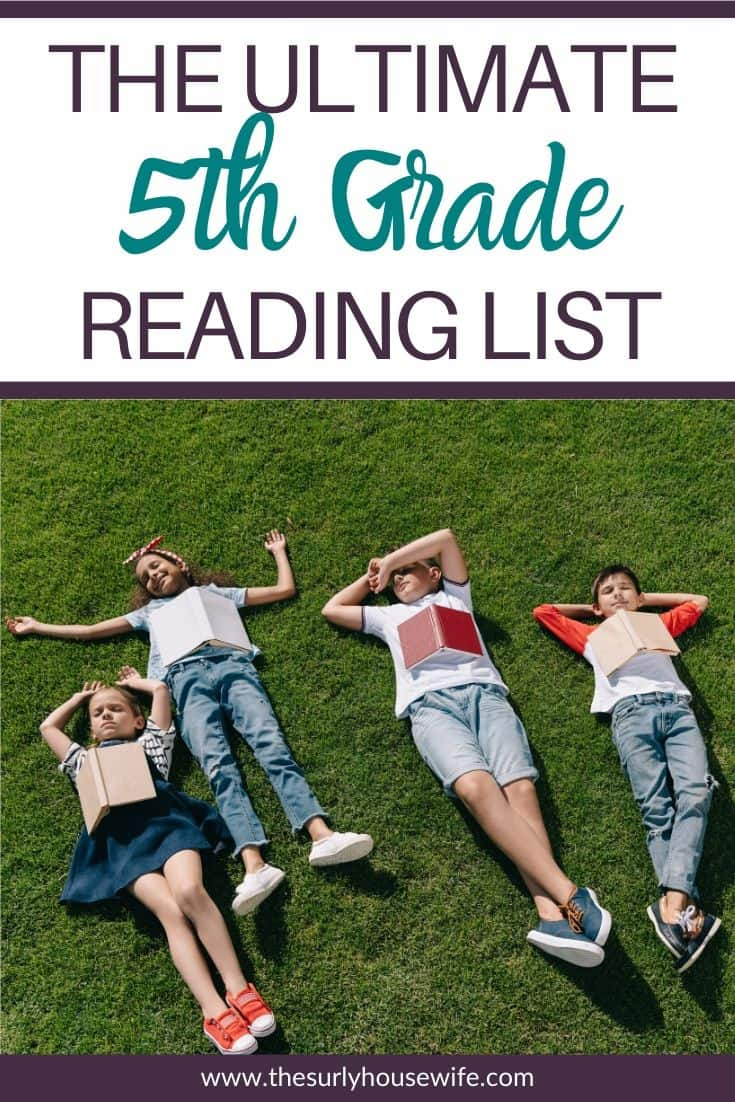 Searching for a fifth grade reading list or are perhaps you are in need of some great books for your 5th grader? Whether you are a homeschool mom searching for read alouds or for books for your 5th grader, this list has you covered! It has 15 books your fifth grader will love! The ultimate list of suggestions for 5th grade read-alouds. This list of 25 5th grade books is certain to contain your child's next favorite book!