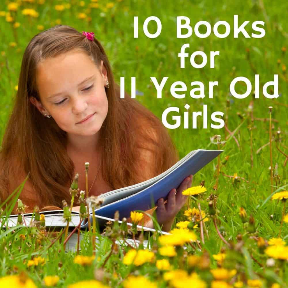 girl reading outside. Title image for blog post: 10 books for 11 year old girls