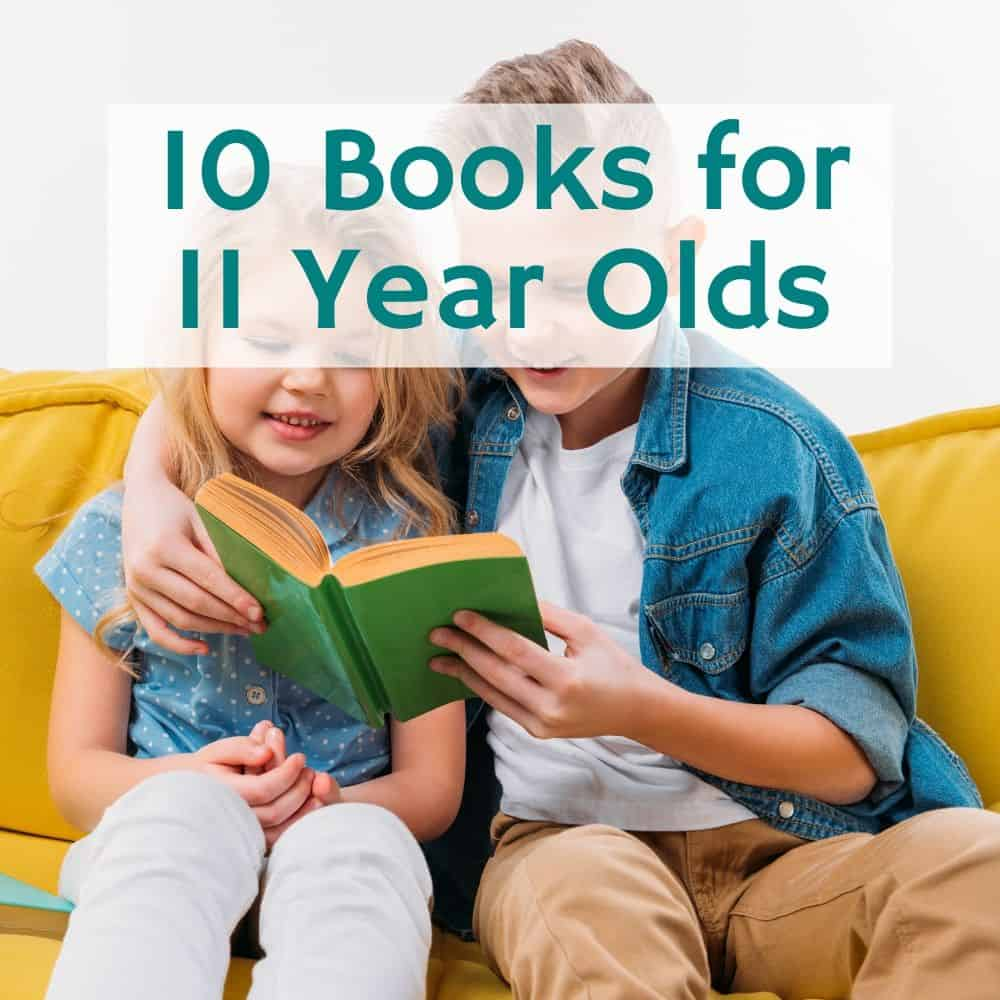 young siblings reading on the couch. Title image of blog post: 10 books for 11 year olds.