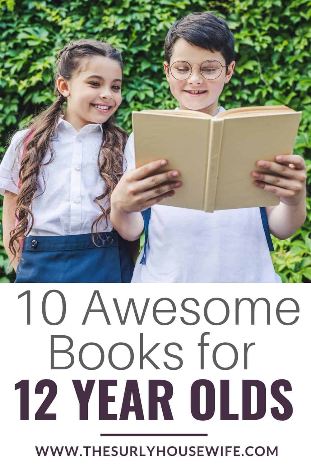 Searching for the perfect book for an 12 year old? This post has a list of 10 books for 12 year olds! It contains page-turning titles for boys OR girls. Encourage your young reader with 10 eclectic book recommendations. Don't miss this list which contains some of the best books for 12 year olds. They include chapter books, fantasy, classics, realistic fiction, and historical fiction. They are perfect for reading aloud, independent reading, or a summer reading list!