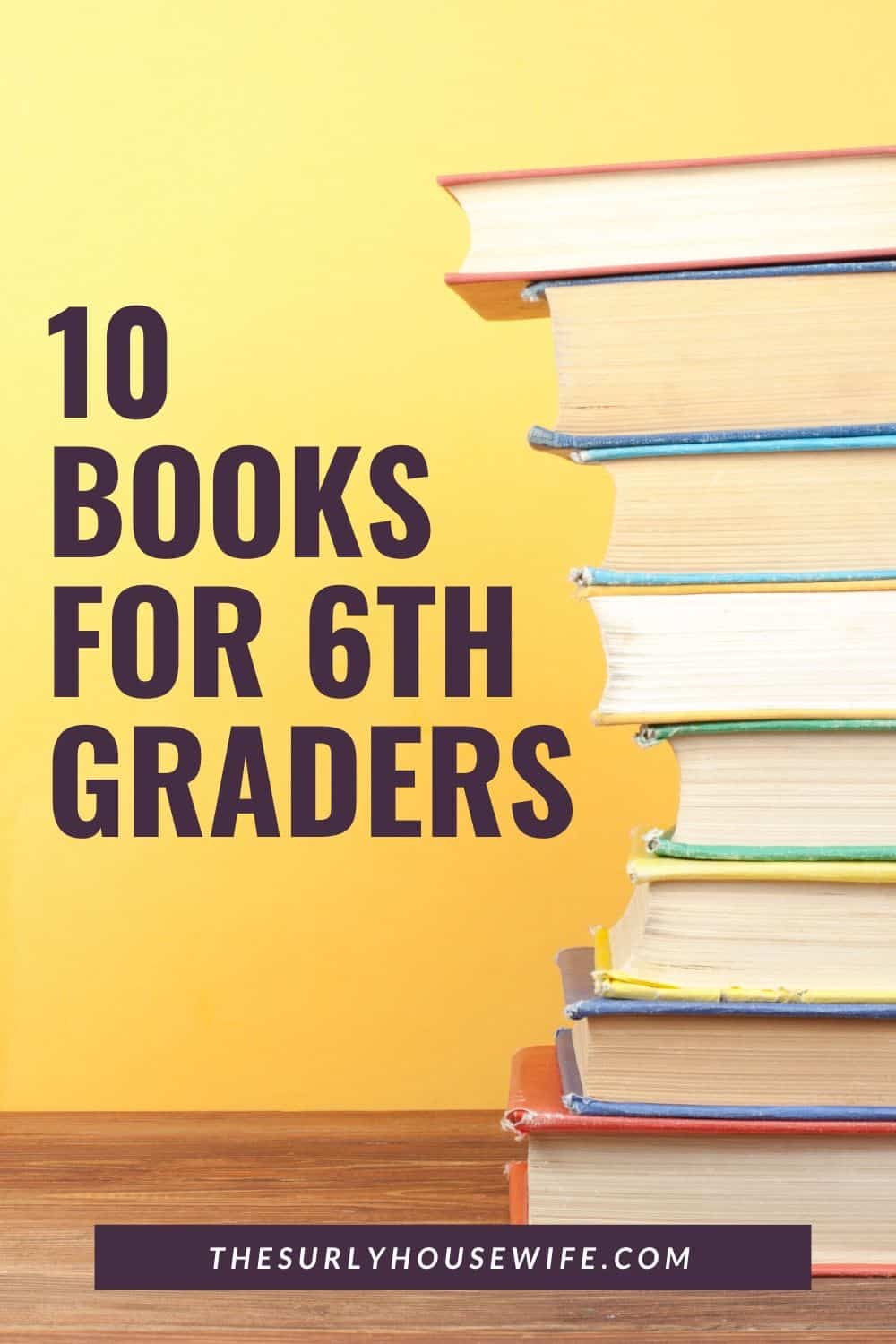 Searching for book recommendations for your 6th grader? Does your 12 year old or 6th grader need a good book? Don't miss this list which contains some of the best books for sixth graders. They include chapter books, fantasy, nonfiction, poetry, realistic fiction, and historical fiction. They are perfect for reading aloud, independent reading, or a summer reading list!