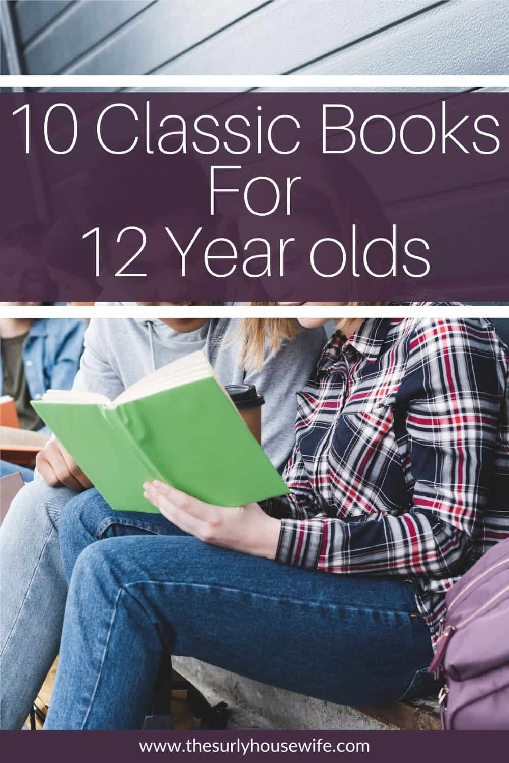 Searching for books for your 12 year old boy or girl? Then don't miss this list of book recommendations which contains classic books perfect for 12 year olds - 6th grade! They are perfect for reading aloud, independent reading, or a summer reading list! Introduce your child to some of your favorite book from when you were a kid! 10 of the best chapter books for 12 year olds.