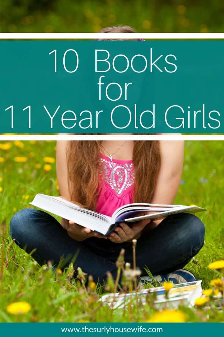 Searching for a book for an 11 year old girl? Looking for an amazing book? Encourage your young reader with 10 of these eclectic book selections for 11 year old girls! Don't miss this list which contains some of the best books for girls. They include chapter books, fantasy, classics, realistic fiction, and historical fiction. They are perfect for reading aloud, independent reading, or a summer reading list!