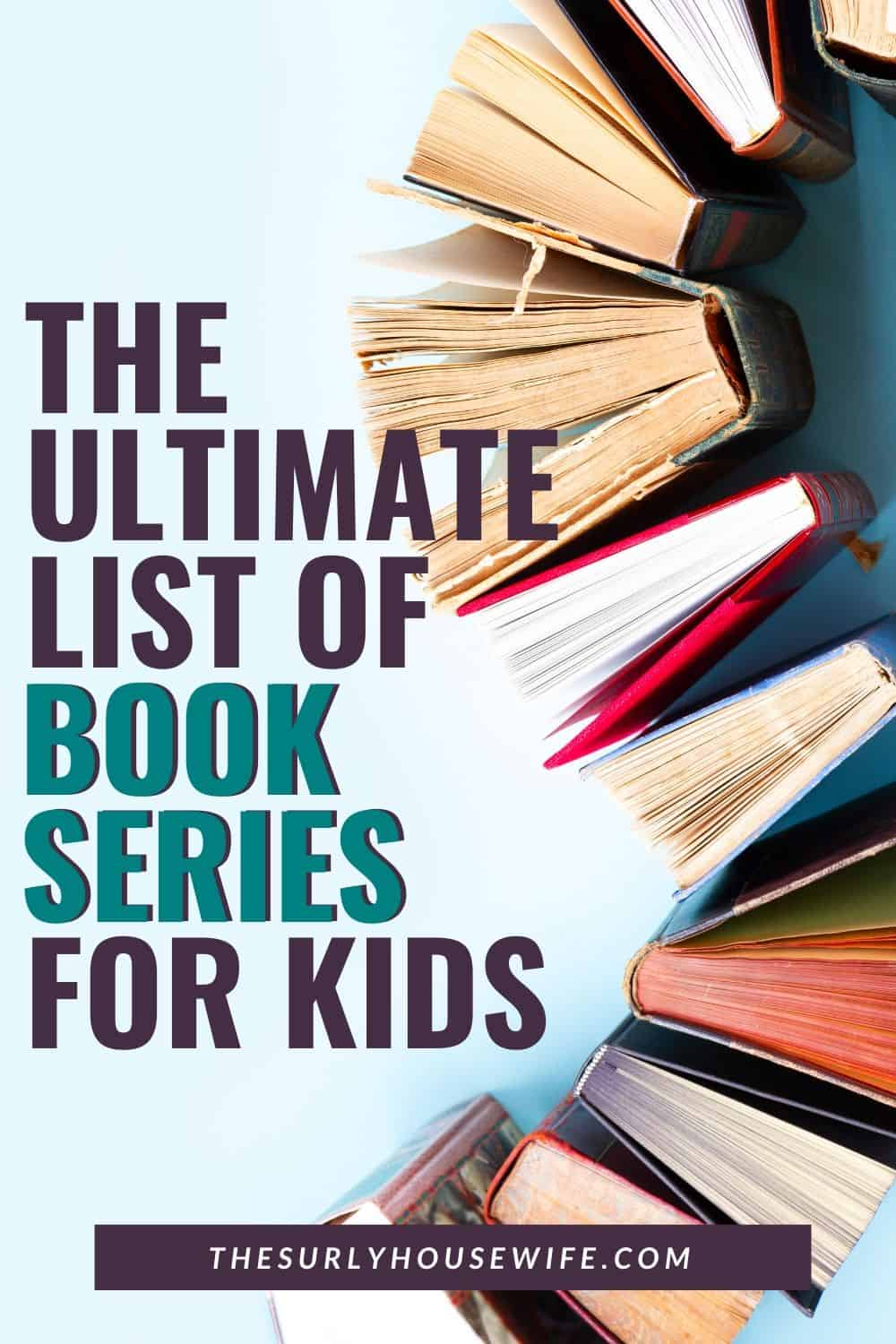 Does your child love binge reading? Do they LOVE reading series of books? Then don't miss this post for the ultimate list of chapter book series for kids! Perfect for read alouds or independent reading. Book series for kids from ages 8-12 as well as young adult book series. Check it out!