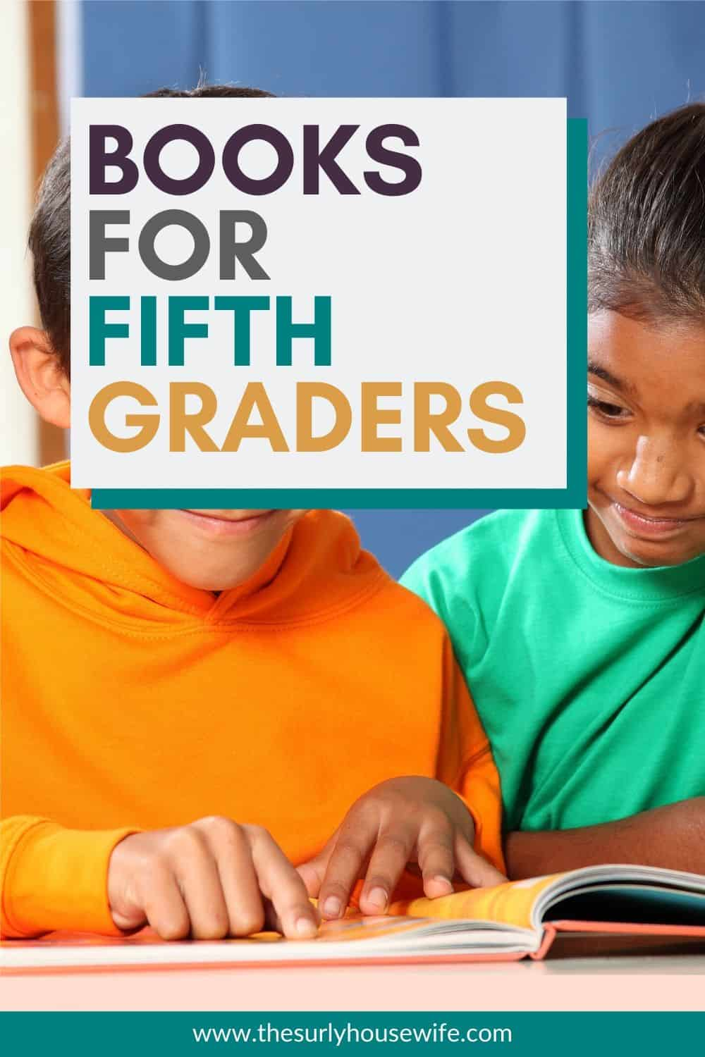 Searching for books for 5th graders? If you need fifth grade chapter book recommendations check out this post that has over 50 book suggestions! They are must-read books for 5th graders.