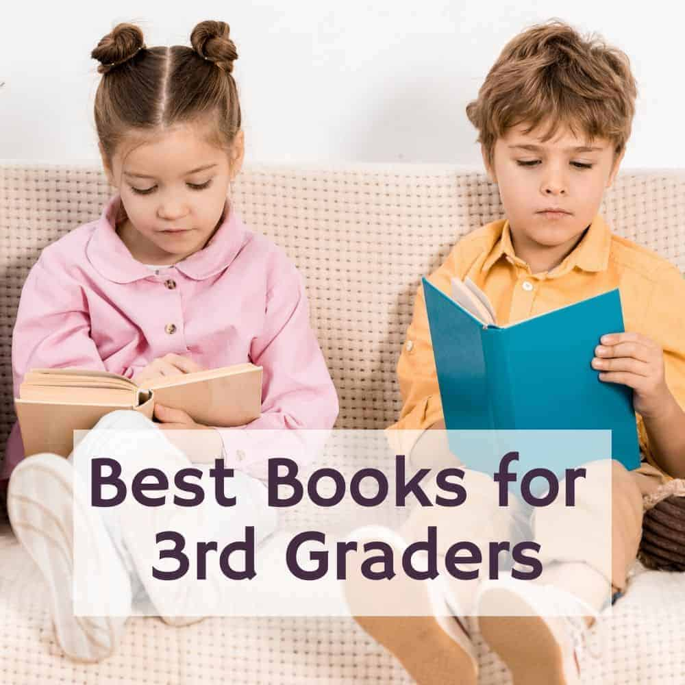 girl and boy reading a book on the couch. Title image of blog post: best books for 3rd graders