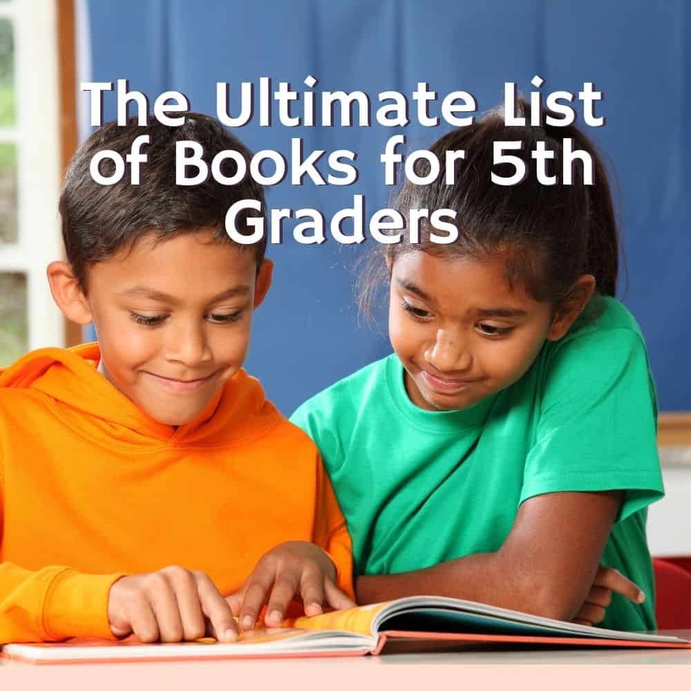 a boy and girl reading a book together. Title image for blog post: The Ultimate Round-up of Books for fifth graders