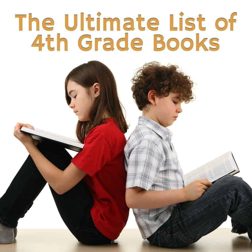 a boy and girl sitting back-to-back reading. Title image of blog post: The Ultimate List of Fourth Grade Books