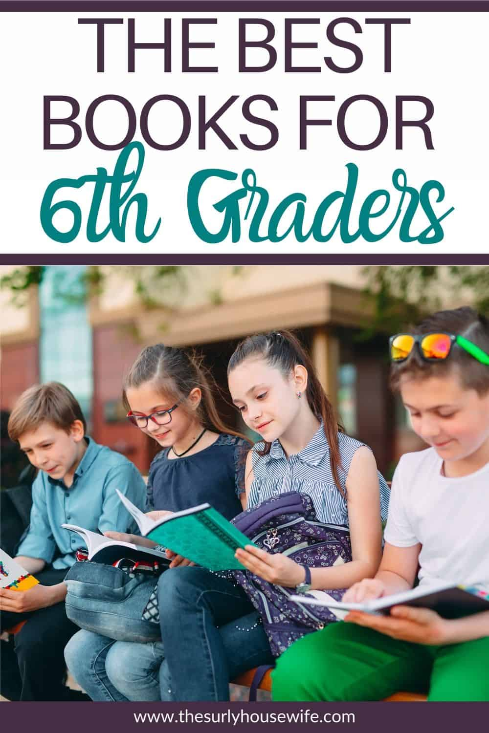 Searching for must-read books for sixth graders? Don't miss this post for over 50 fun and memorable book recommendations for 6th graders or 12 year olds.