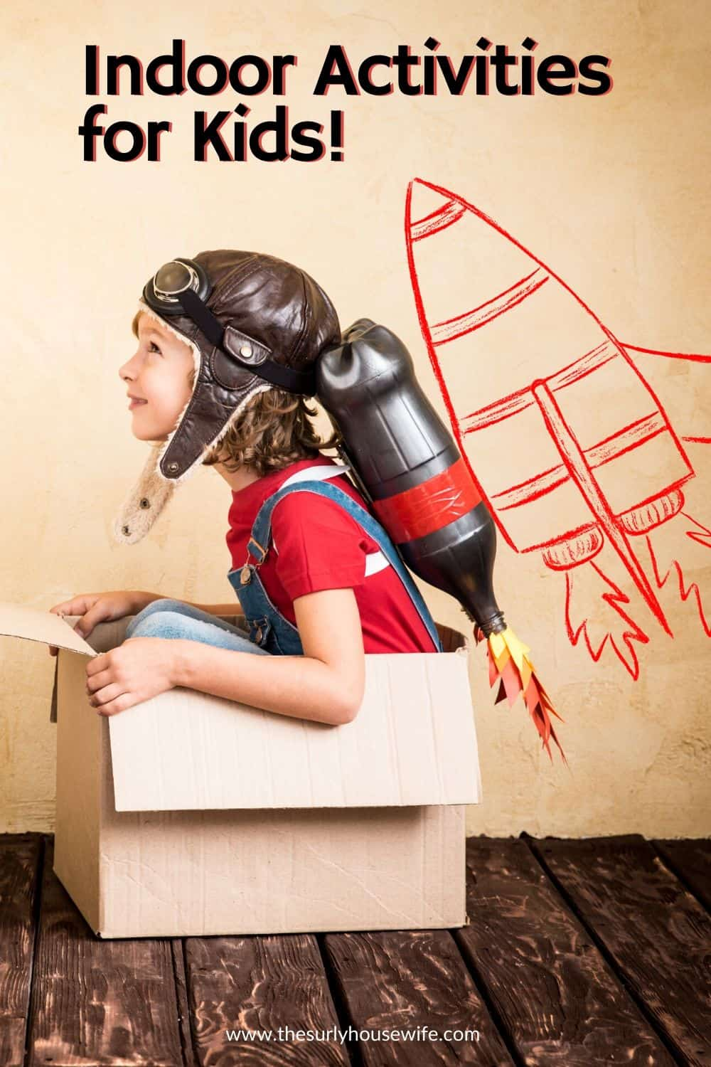 Whether it's due to the weather or an emergency situation, kids stuck at home get bored. Check out this post for over 200 fun indoor activities for kids at home.