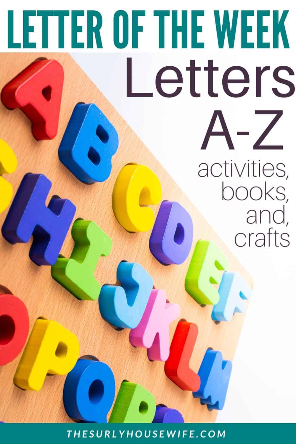A Letter of the Week preschool curriculum is hands-on way to teach your child the alphabet. It includes activities, books, crafts, worksheets, sensory play, and more. Click here to learn about this free preschool curriculum that works for toddlers as well as kindergarten
