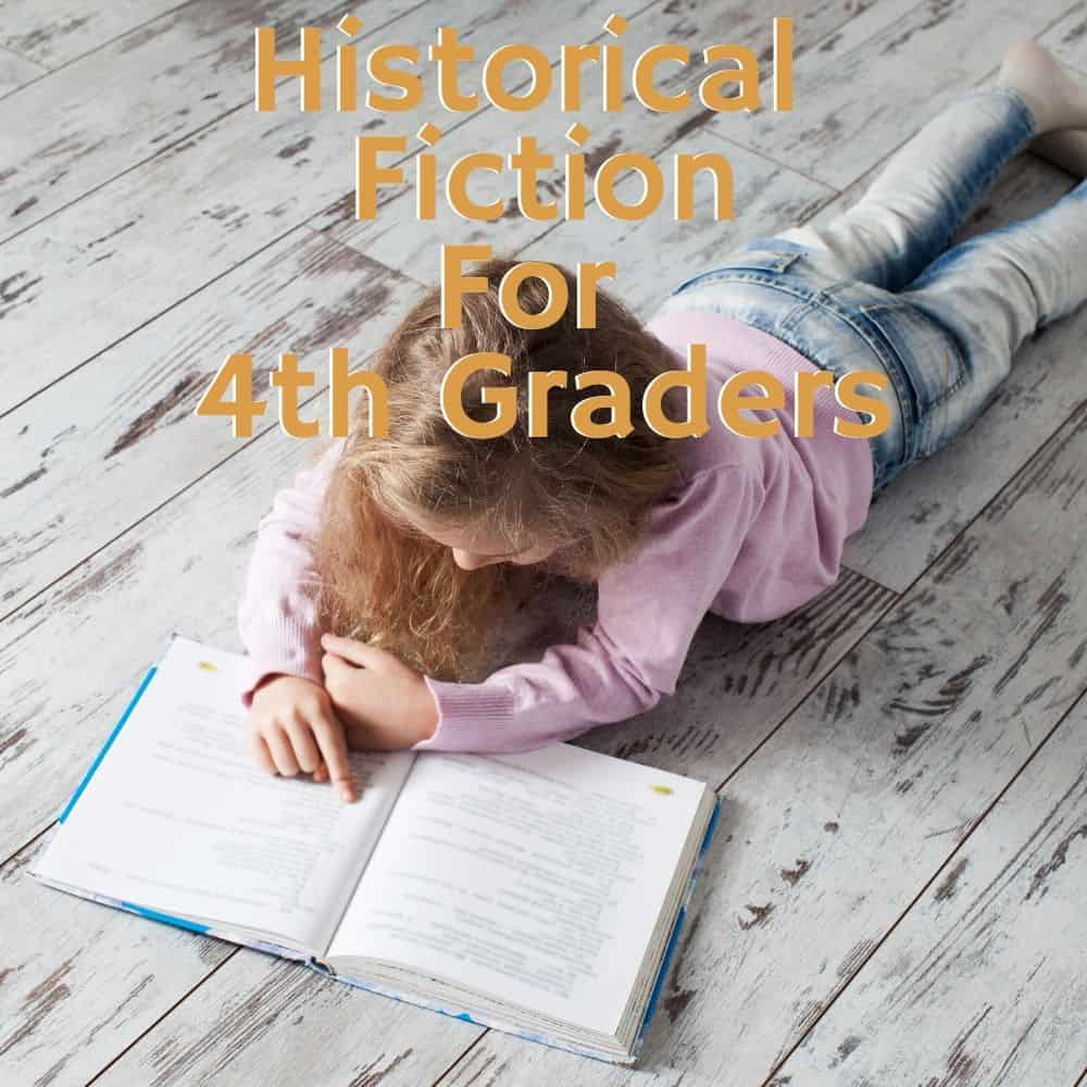 girl reading a book on the floor. Title image for blog post: 10 historical fiction books for 4th grade