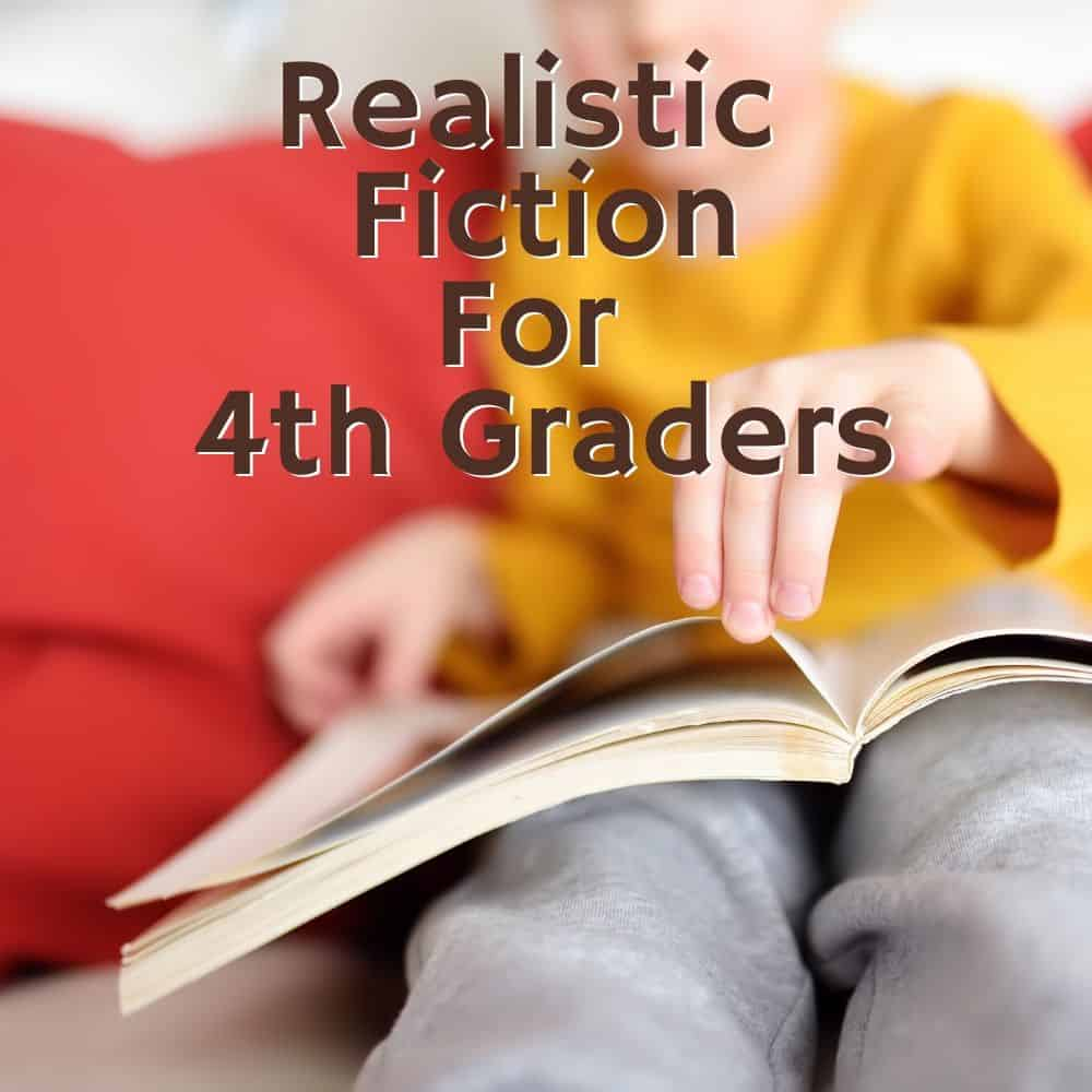Selective focus on a child turning a page in a book. Title Image for blog post: 10 realistic fiction books for 4th grade