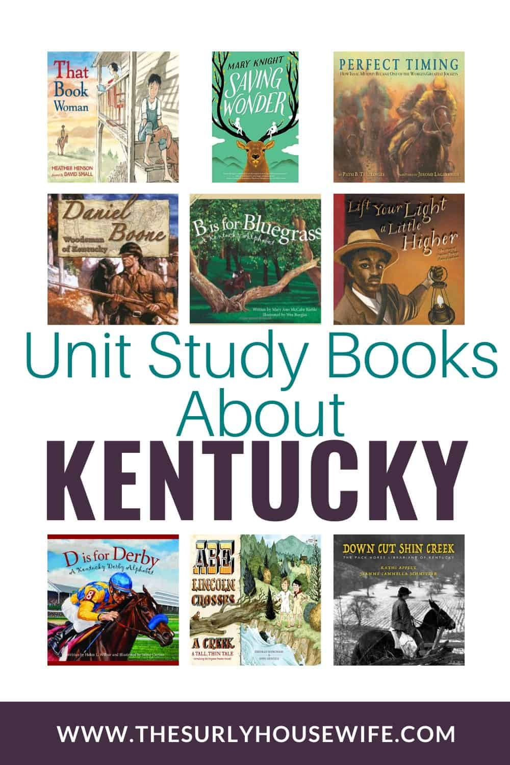 Searching for books about Kentucky, then check out this post! It contains children's books, chapter books, and picture books about the Bluegrass State!