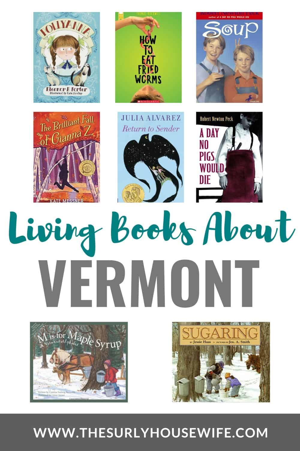 Books about Vermont for a 50 states study.