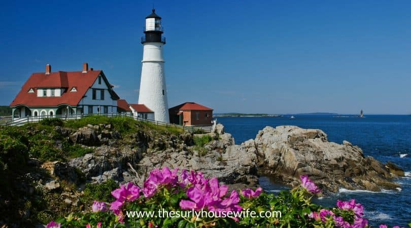Portland Head Lighthouse. title image of blog post: Children's books about Maine