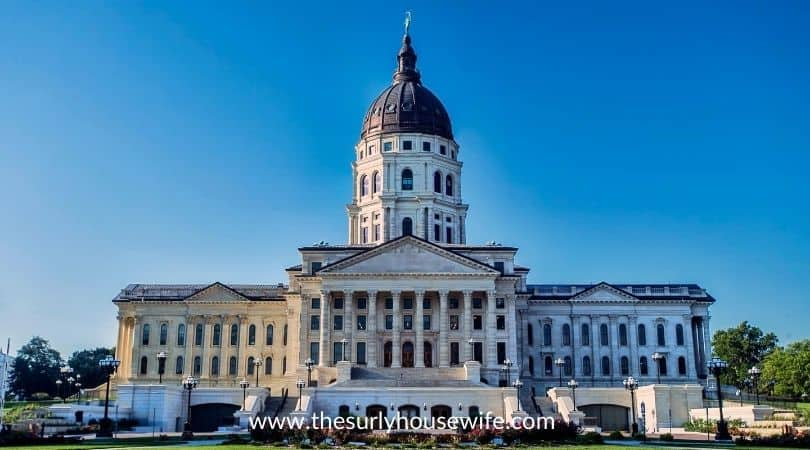 Kansas state capital building.